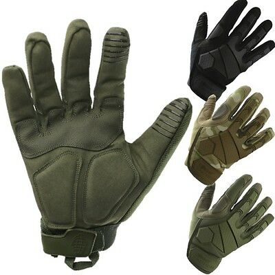 Mens Alpha Tactical Combat Gloves Hardshell Knuckle Micro Fibre Army Airsoft