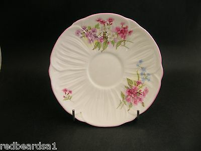 China Replacement Shelley Vintage Stocks Saucer Pink Trim England c1940s 14cm