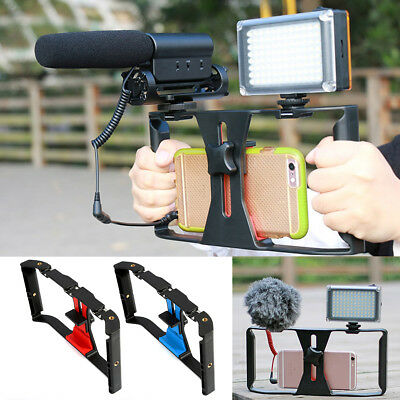 Video Camera Cage Stabilizer Film Steady Handle Grip Rig For Mobile Smart Phones