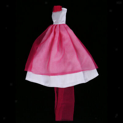 Doll Tulle Dress for Barbie Doll Evening Gown Skirt Tops Outfit Clothes Gift