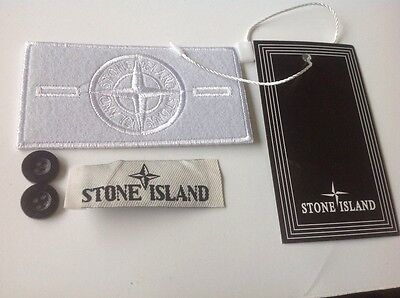 stone island badge  white ghost badge