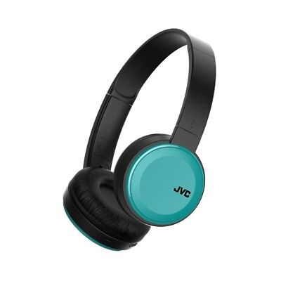 Foldable Bluetooth On Ear Headphones Blue Wireless Deep Bass Mic Remote by JVC