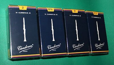 ANCE VANDOREN Sib BLU' TRADITIONAL CLARINETTO BOX 10 PZ - GRADO  31/2