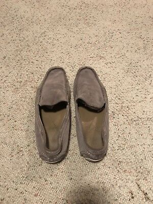fd6e6ae511bb0 HUGO BOSS MEN'S Gray Suede Moccasin Loafer Shoes