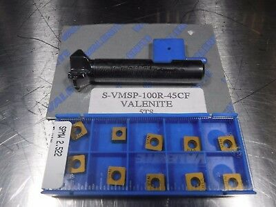 "Valenite 1"" Indexable Milling Cutter 1/2"" Shank S VMSP 100R 45CF (LOC487)"