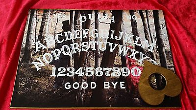 Wooden Ouija Board Game Spirit Walker Planchette ghost hunt & Instructions magic