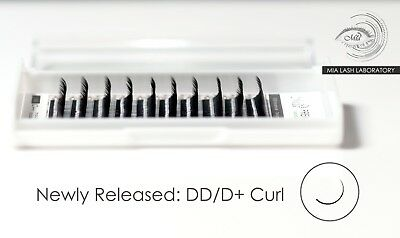 D+(DD) Curl Synthetic Mink Faux Mink Lash Mia Individual Eyelash Extension
