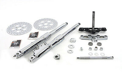 V-Twin 24-2120 - Fork Assembly with Chrome Sliders