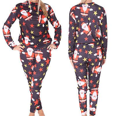 Boys Girls Kids Santa Stars Long Sleeve Xmas Christmas Pyjamas pjs Age 7-13