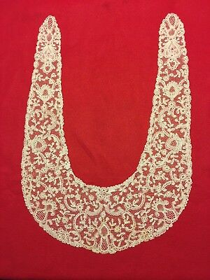 Large ROSALINE Bobbin Lace Collar, Excellent Condition, Unused, White, Collector