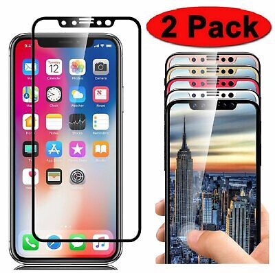Full Coverage 3D Tempered Glass Screen Protector for iPhone X XR XS Max 11 Pro