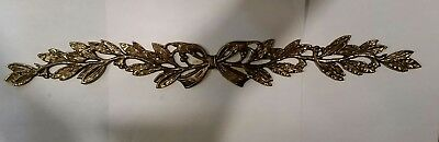 Laurel Brass Furniture Applique Ornament Pediment LARGE 8.5 inches