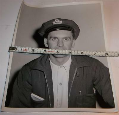 Vintage Nickles Bread Delivery Man Employee Photo C