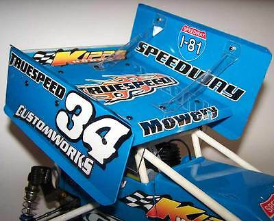 Top Wing Kit 6 X 6 Inch For 1/10 Scale Dirt Oval Rc Sprint Car K1022 Hard Packed