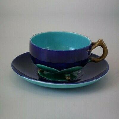 Minton Majolica Lily Pad Cup & Saucer