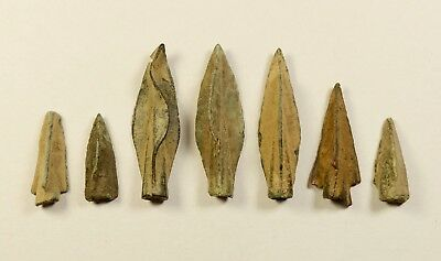 SUPERB LOT OF 7 Ancient Greek Scythian Arrow Heads Bronze 5th c BC