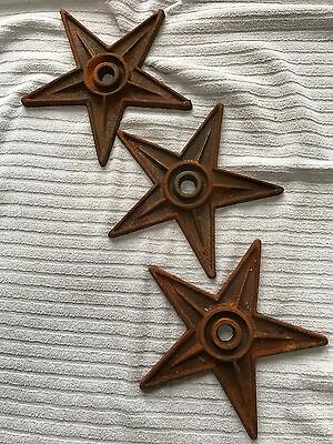 "3 9"" antique reproduction architectural cast iron stars building anchors"