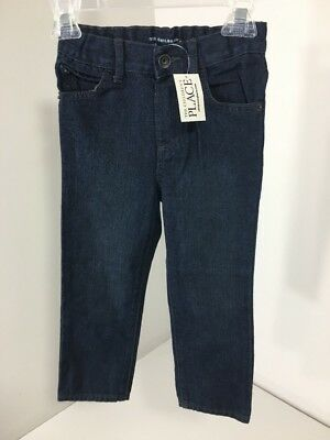 Children's Place Toddler Boys  Basic Skinny Jeans Deep Blue Wash 3T Nwt
