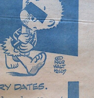 Vintage 1968 Pogo For President By Walt Kelly Extremely RARE Original Poster