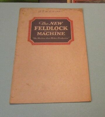 Victorian Era Willcox & Gibbs Feldlock Sewing Machine Advertising Brochure 16pg