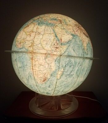 "VINTAGE  TIME-LIFE LIGHTED 12"" GLOBE by REPLOGLE - KIDS , CHILDREN , NIGHTLITE"