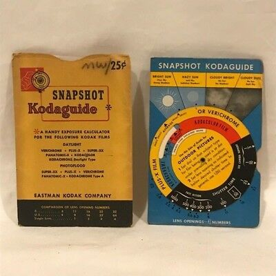 Kodak Snapshot Kodaguide - 2-47-CH - Vintage - Good Condition - with Sleeve