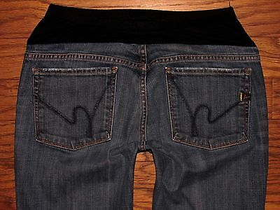 """CITIZENS OF HUMANITY MATERNITY Boot Stretch Jeans Sz 31 Maternity x 31"""" Inseam"""