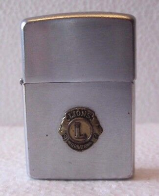 Vintage 1966 Lions International Club Zippo Lighter Made In USA Bradford PA
