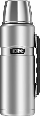 Thermos Stainless Steel King 40oz Beverage Bottle Vacuum Insulation Hot Cold