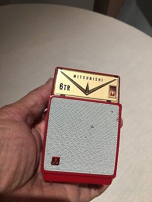 VINTAGE POCKET MITSUBISHI RADIO  MW (AM) With Case FROM  -1950s-1960S