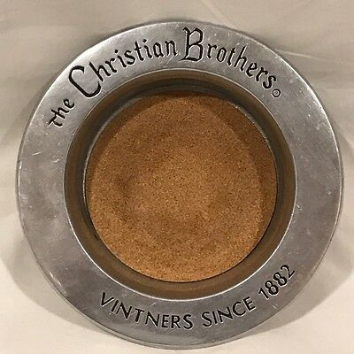 Christian Brothers Wine Holder / Bowl / Tray - Advertising - Hallmarked - Pewter