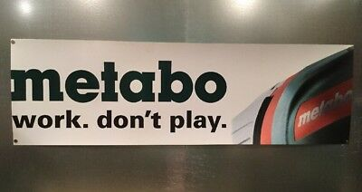 "Metabo Tools Thick Vinyl Banner Sign Garage Workshop Advertising 46 3/8"" X 14"""