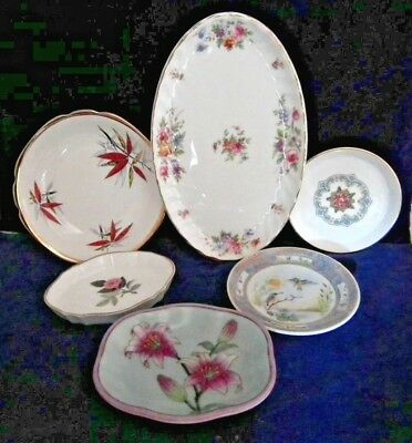 Collection Of 6 Pin Dishes Including Minton & Wedgwood. Various sizes.