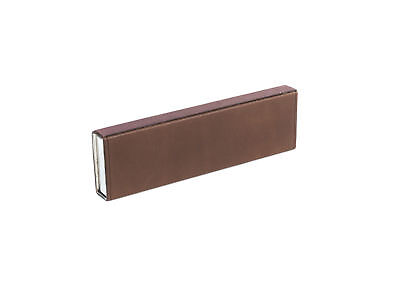 Brunello Cucinelli Dark Brown Leather Covered Matchbook Holder Case ~RTL$199~