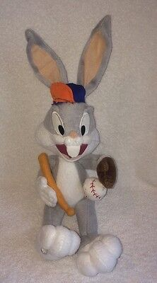 "Bugs Bunny Baseball Player Bat Glove Ball Poseable Ears Looney Tunes 12"" Warner"