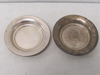 "Sterling silver Small  Plates dish 5"" inches 80g Set of 2"