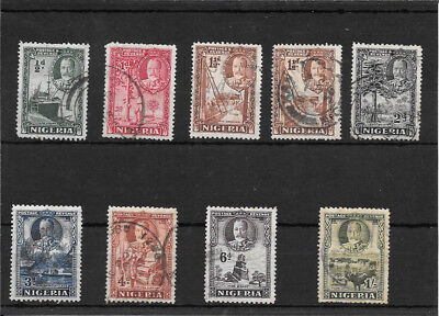 Nigeria P144 Coll Of Used Kgv Stamps Val 13.00