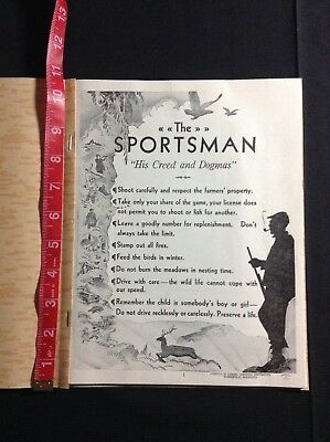 Federal Cartridge Co. Vintage Booklet- The Sportsman 1950's