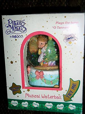 Enesco Precious Moments Christmas Musical Waterbowl 2000 O Tannenbaum