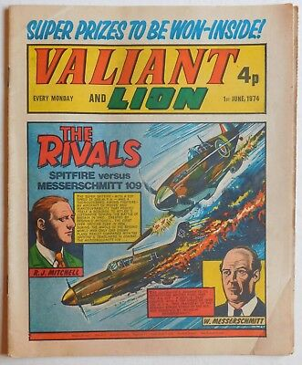 VALIANT and LION Comic - 1st June 1974