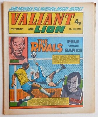 VALIANT and LION Comic - 15th June 1974