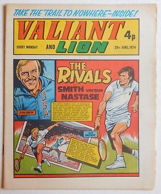 VALIANT and LION Comic - 29th June 1974