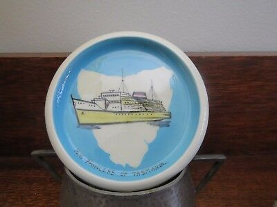 Vintage Studio Anna Australia Souvenir Pin Dish MV Princess of Tasmania Ship