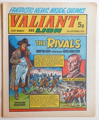 VALIANT and LION Comic - 28th September 1974