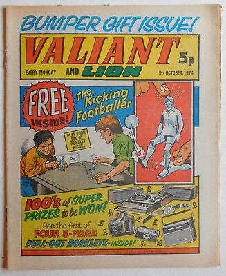 VALIANT and LION Comic - 5th October 1974