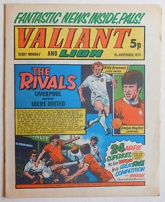 VALIANT and LION Comic - 9th November 1974