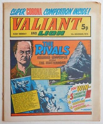 VALIANT and LION Comic - 16th November 1974