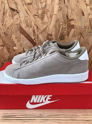 save off 52048 6bd21 Nike Tennis Classic Cs Suede Khaki White Size 12 New With Box