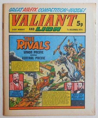 VALIANT and LION Comic - 7th December 1974