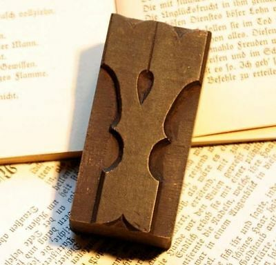 """Letter """"Y"""" fancy rare decorative wood type character letterpress printing block"""